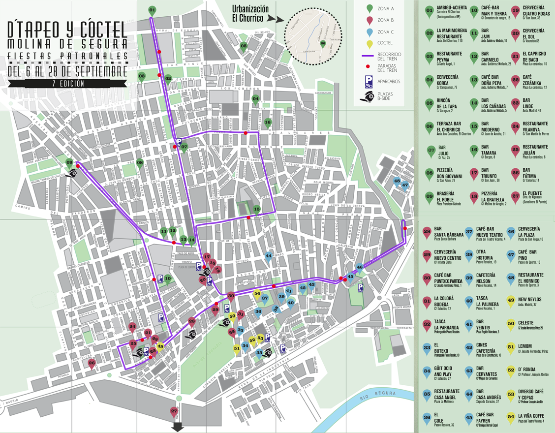 Mapa Molina De Segura.Mapa Guia De Molina De Segura