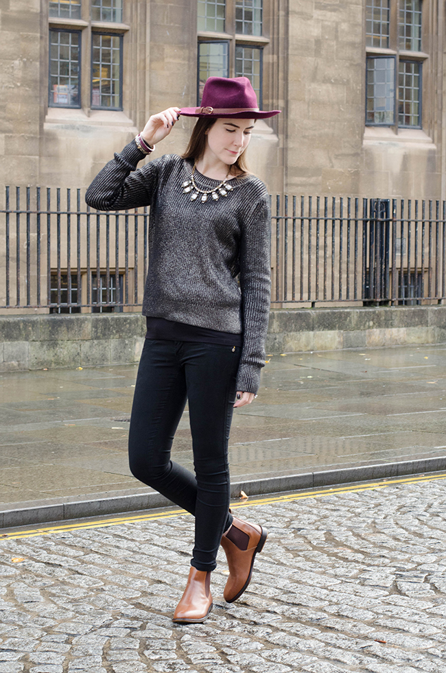 Metallic Knitwear And Chelsea Boots The Style Rawr