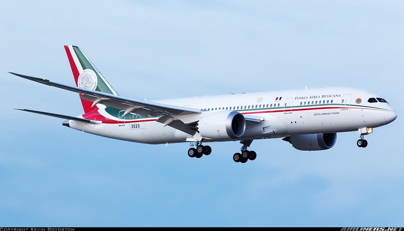 Arribará A México El Nuevo Avión Presidencial Boeing 787 8