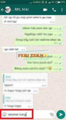 kirim pesan otomatis di whatsapp - Feri Tekno