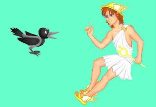 El Cuervo y Hermes