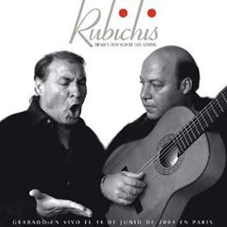 """Diego de los Santos Bermúdez, Diego Rubichi  acompañado por la guitarra de su hijo Domingo Rubichi """"Rubichis"""""""