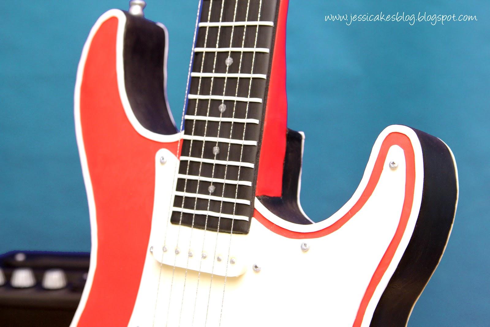 Stand Up Electric Guitar Cake Jessica Harris Cake Design