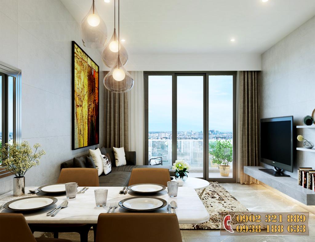 Nội thất căn hộ Kingdom 101 - Phòng khách căn hộ 2A
