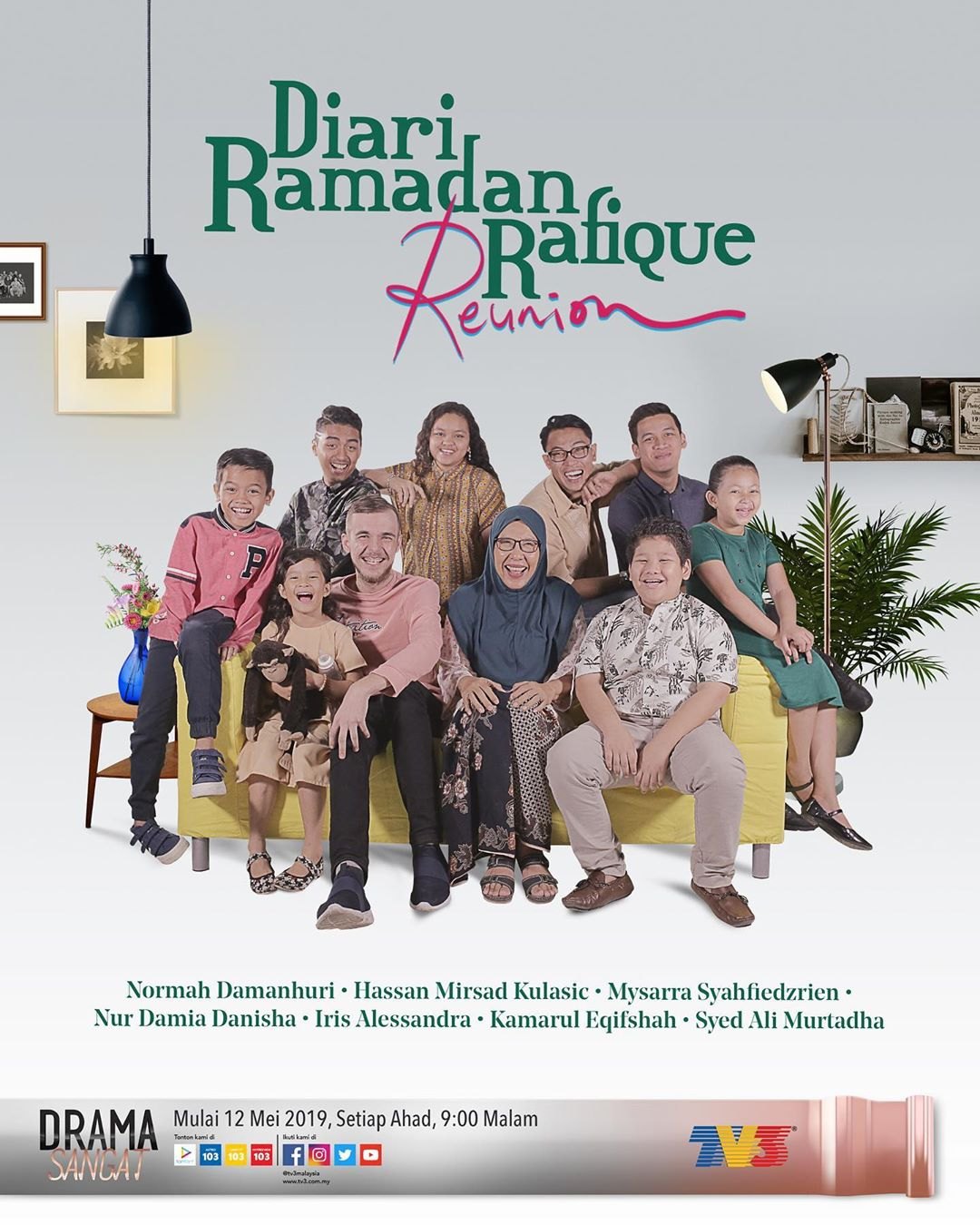 SInopsis Drama Diari Ramadan Rafique Reunion (2019) TV3
