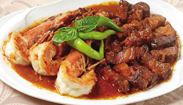 Adobong Bagnet With Sugpo At Taba Ng Talangka Recipe