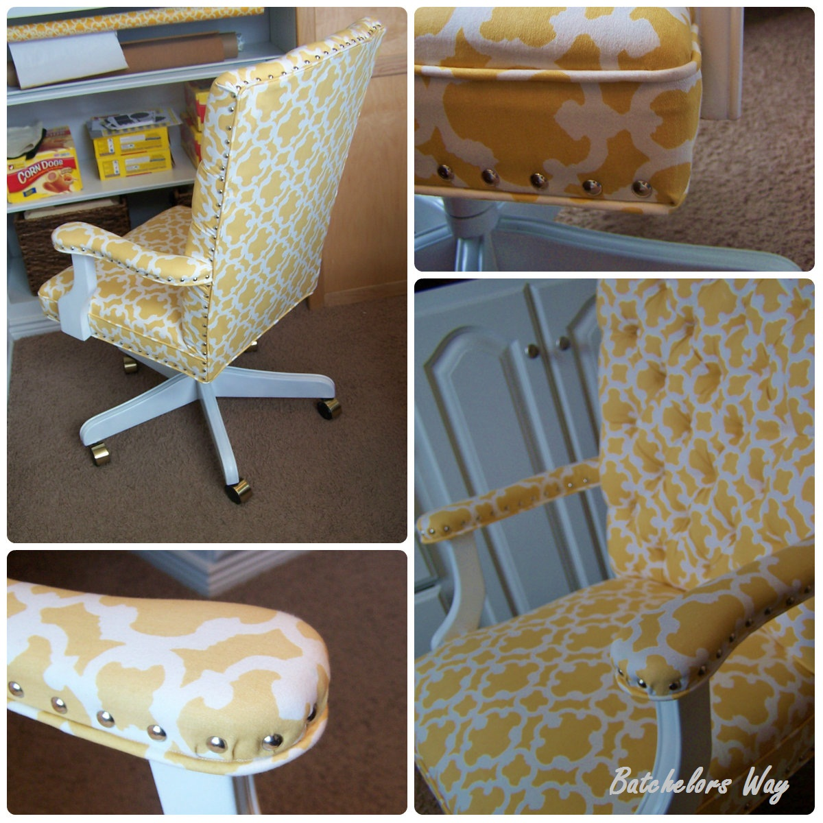 how to diy reupholster a chair pride chairs parts batchelors way office redo