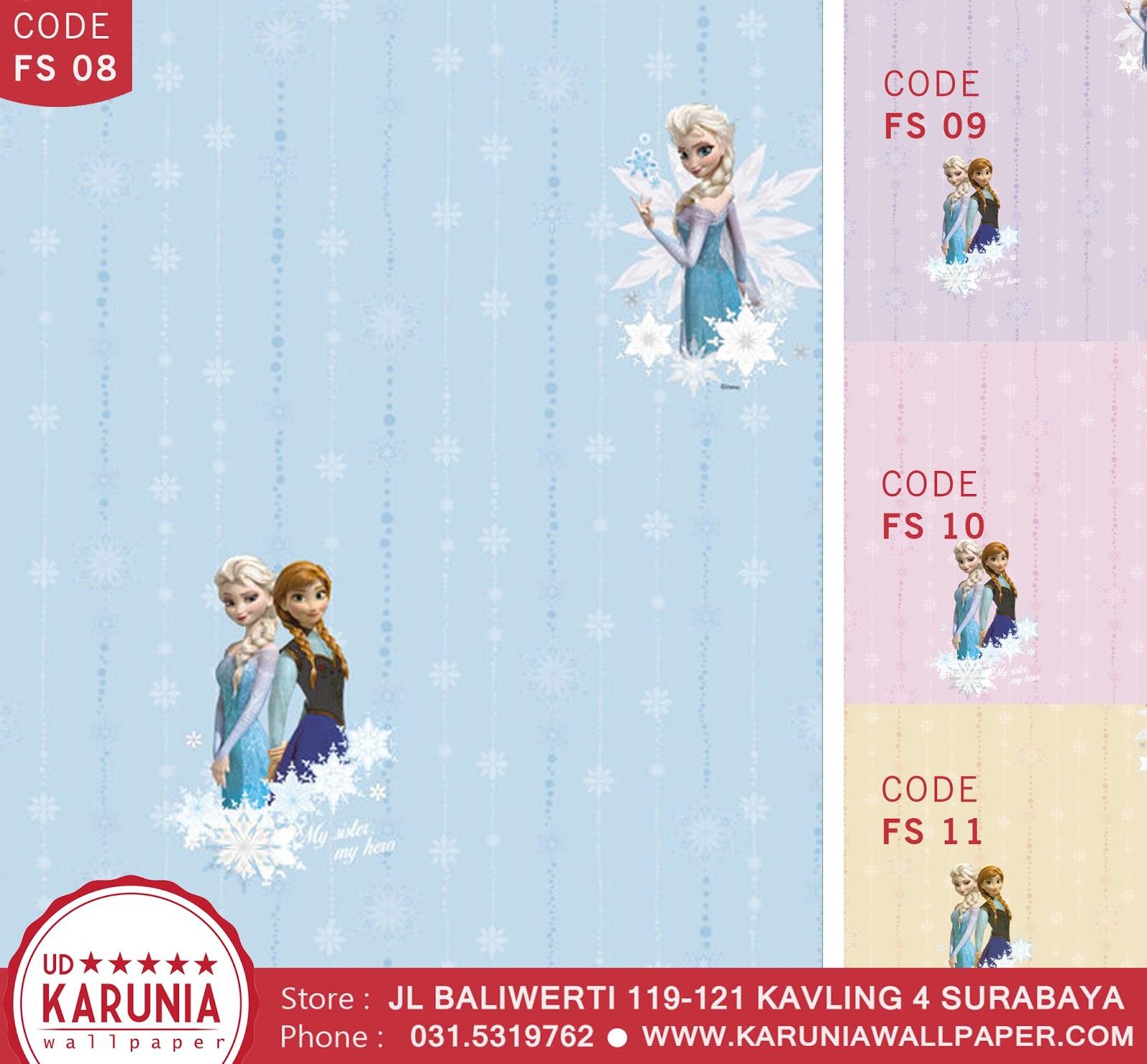 jual wallpaper dinding anak disney frozen karuniawallpaper surabaya