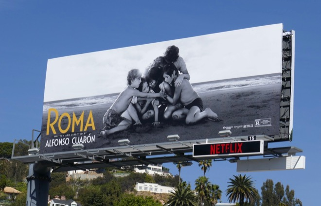 Roma Netflix film billboard