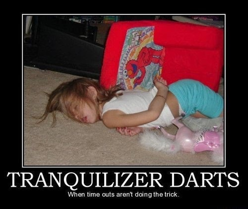 Funny Tranquilizer Dart Parenting Skill Joke Picture Fail