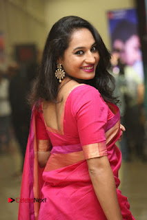 Actress Pooja Ramachandran Pictures in Red Silk Saree at Siddhartha Audio Release  0090