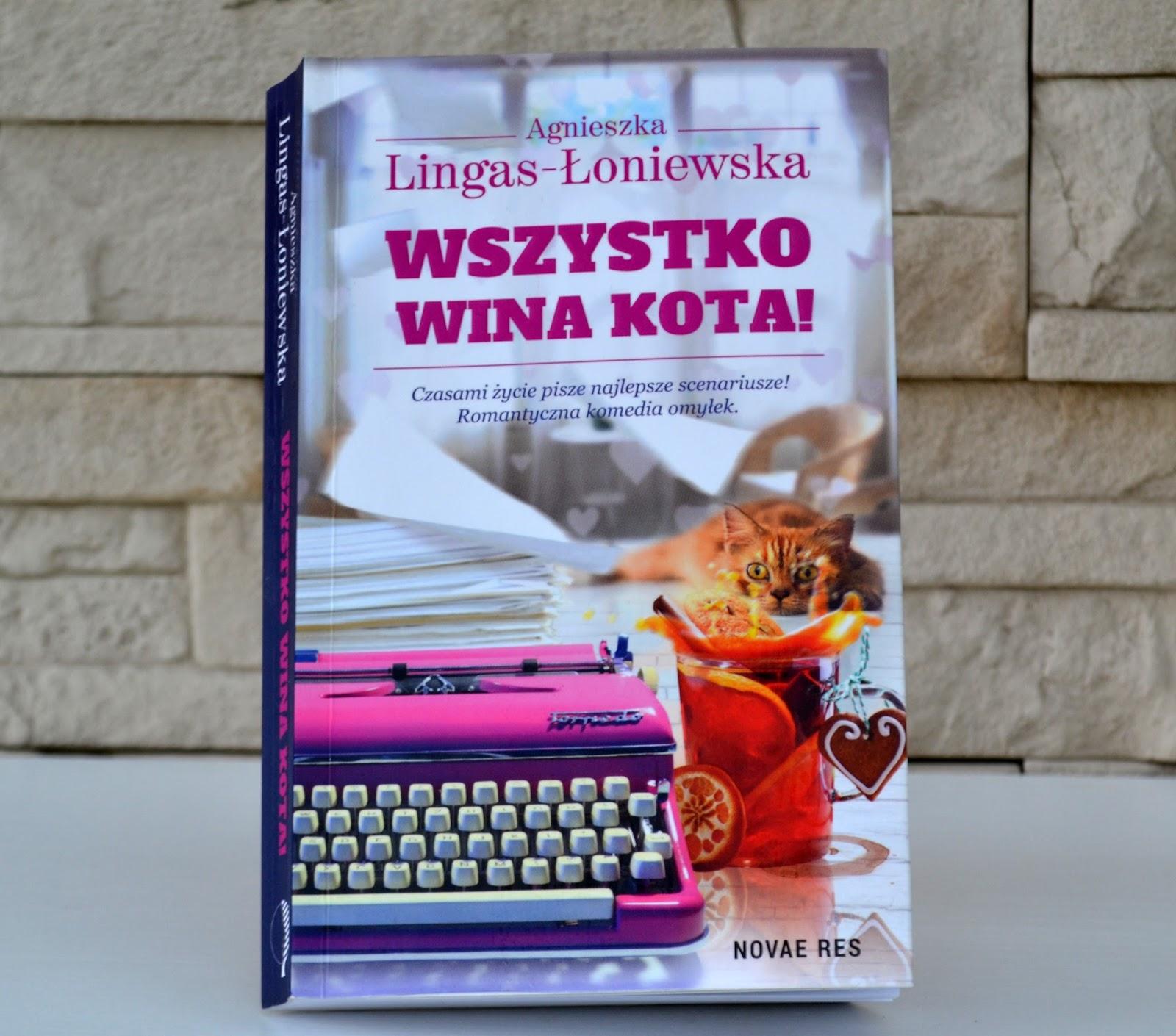 Wszystko wina kota, kubek dla autorki i pierwsza recenzja fajnej książki
