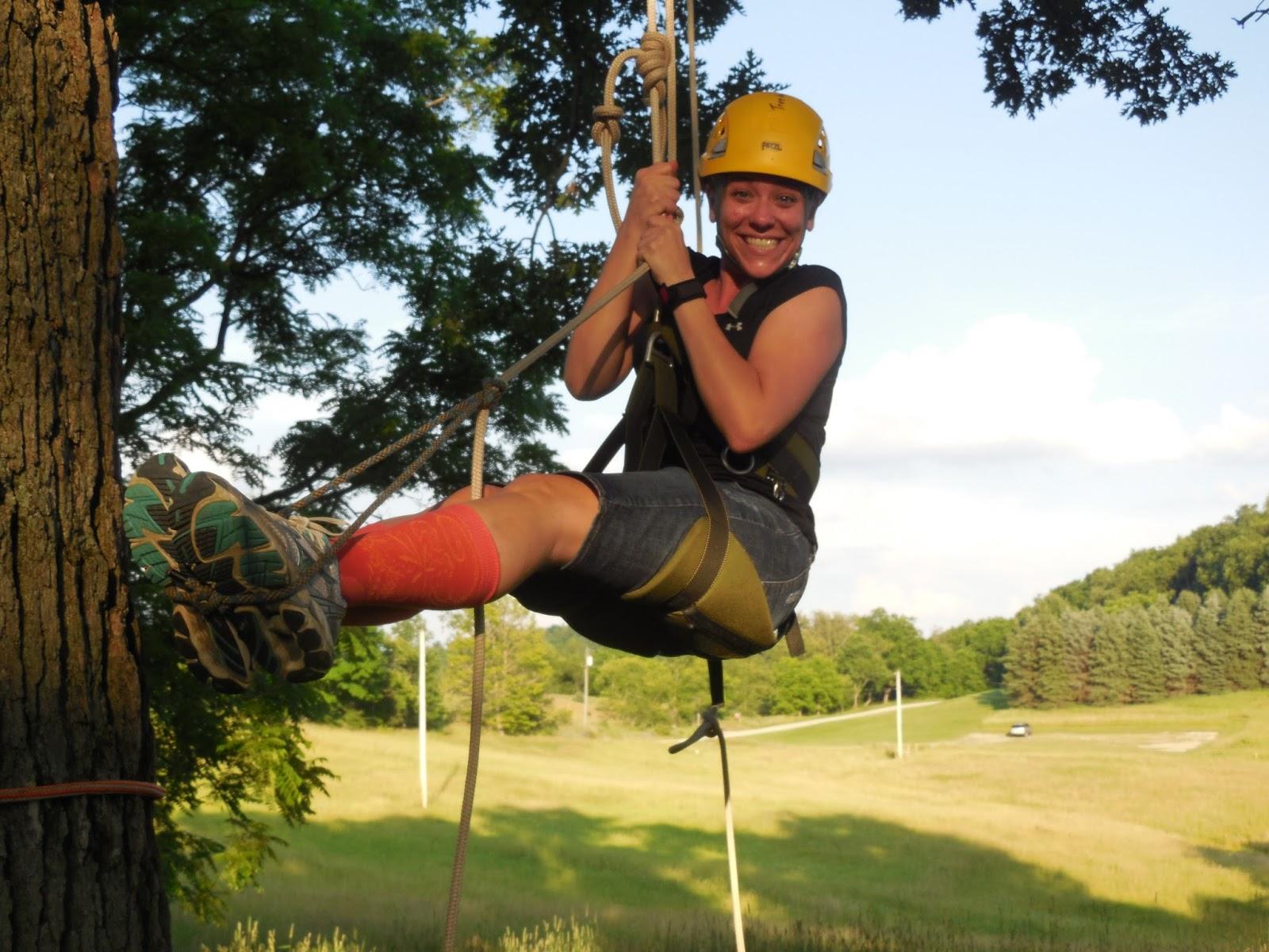 girl scouts tree climbing