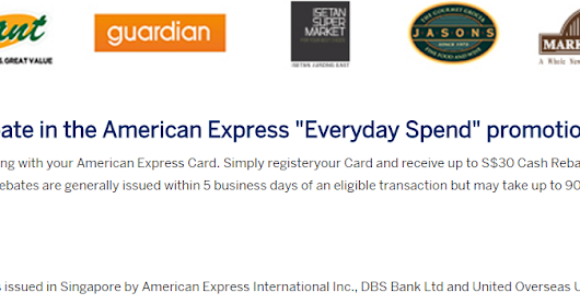 American Express Everyday Spend 10% Rebate Promotion