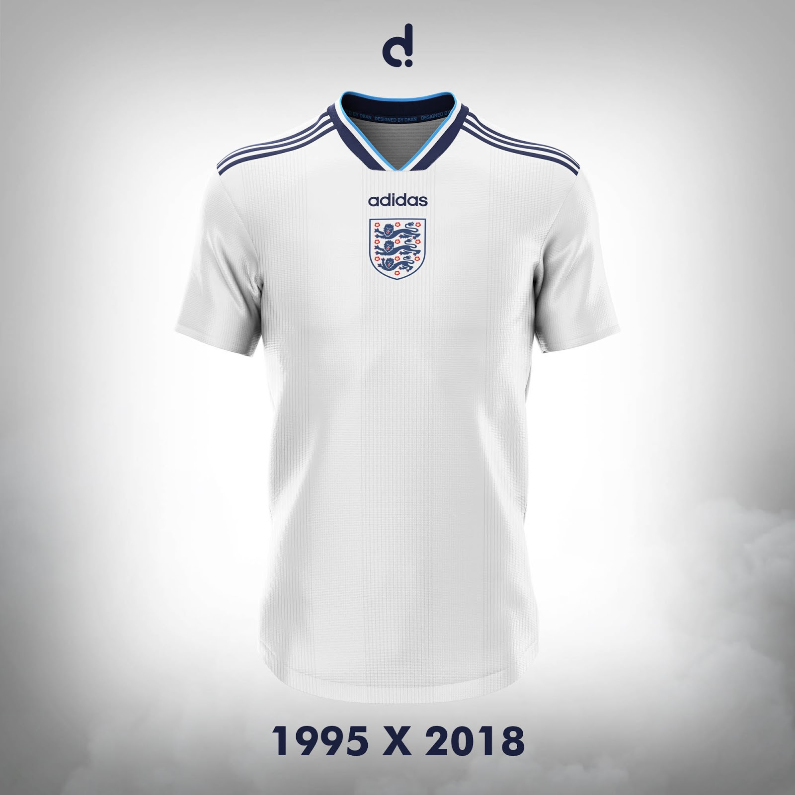 0af0a33f60c Modernised, 1995 Inspired Adidas England 2018 Concept Kit - Footy ...