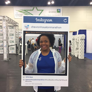 Posing in the Chevron Houston marathon expo