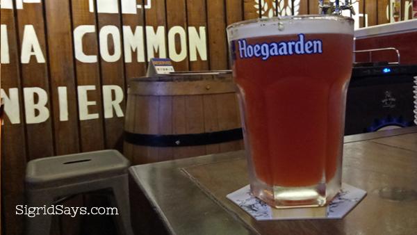 Brewery Gastropub Bacolod restaurant Hoegaarden