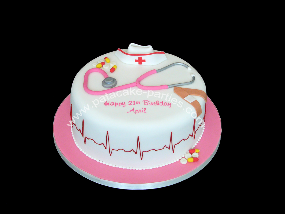 PataCake Parties Nurses Birthday Cake
