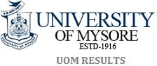 UOM RESULT, MYSORE UNIVERSITY RESULTS