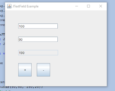 JTextField with actionListener.