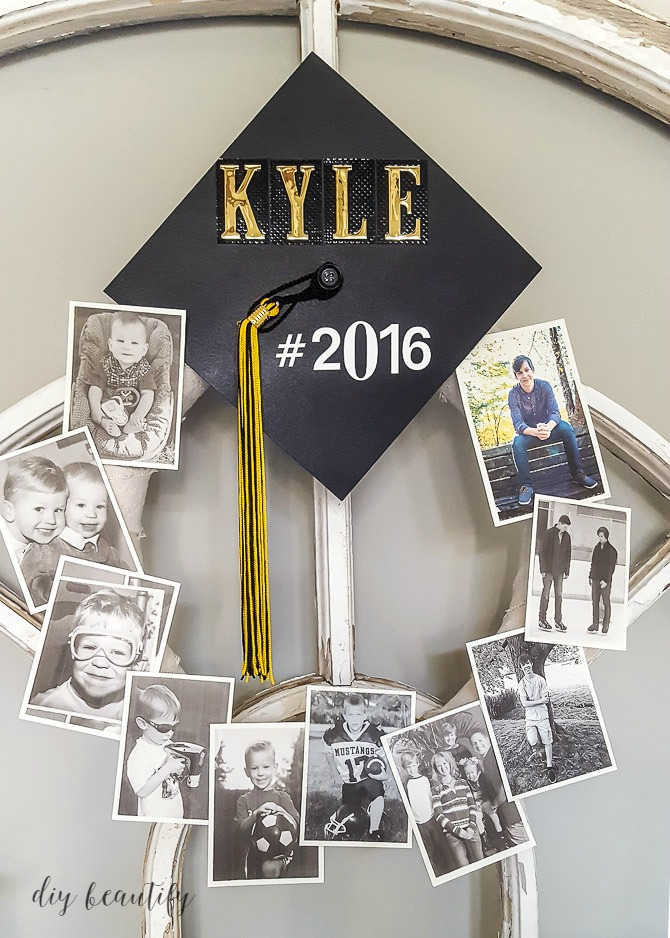 graduation memory wreath