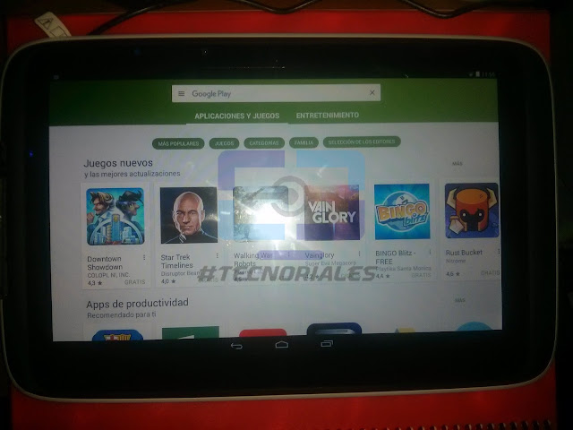 Tablet Canaima TR10CS1 con Play Store