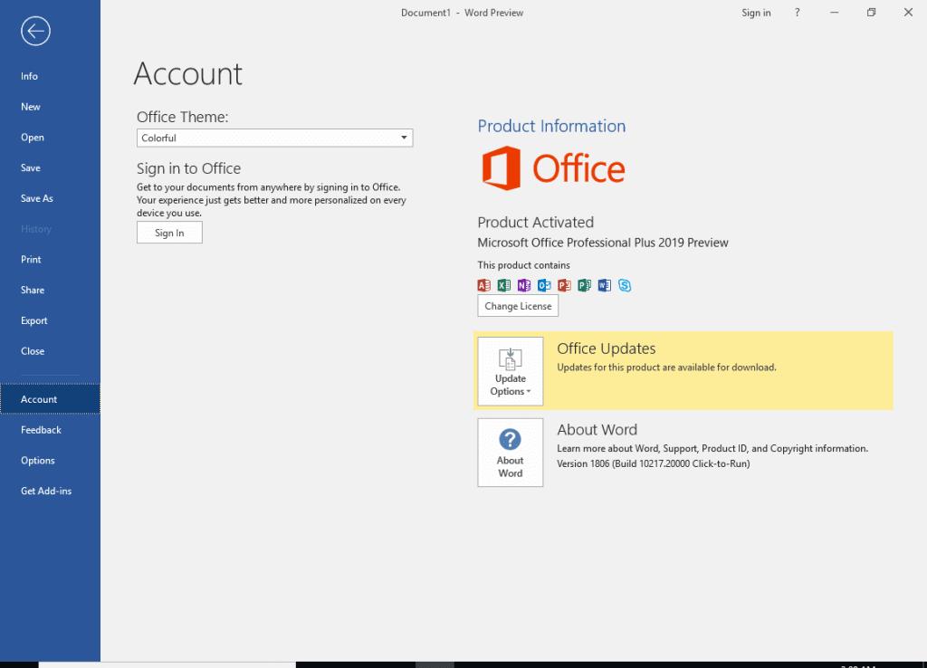 ms office pro plus 2019 product key