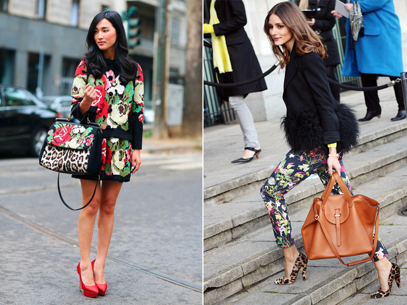 floral winter fall street style