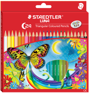 Staedtler Luna Triangular Coloured Pencils C-24