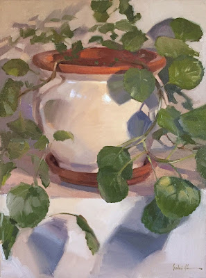 houseplant painting swedish ivy oil on canvas