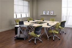 modular training room furniture for collaborating