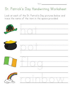 St Patrick day worksheets free
