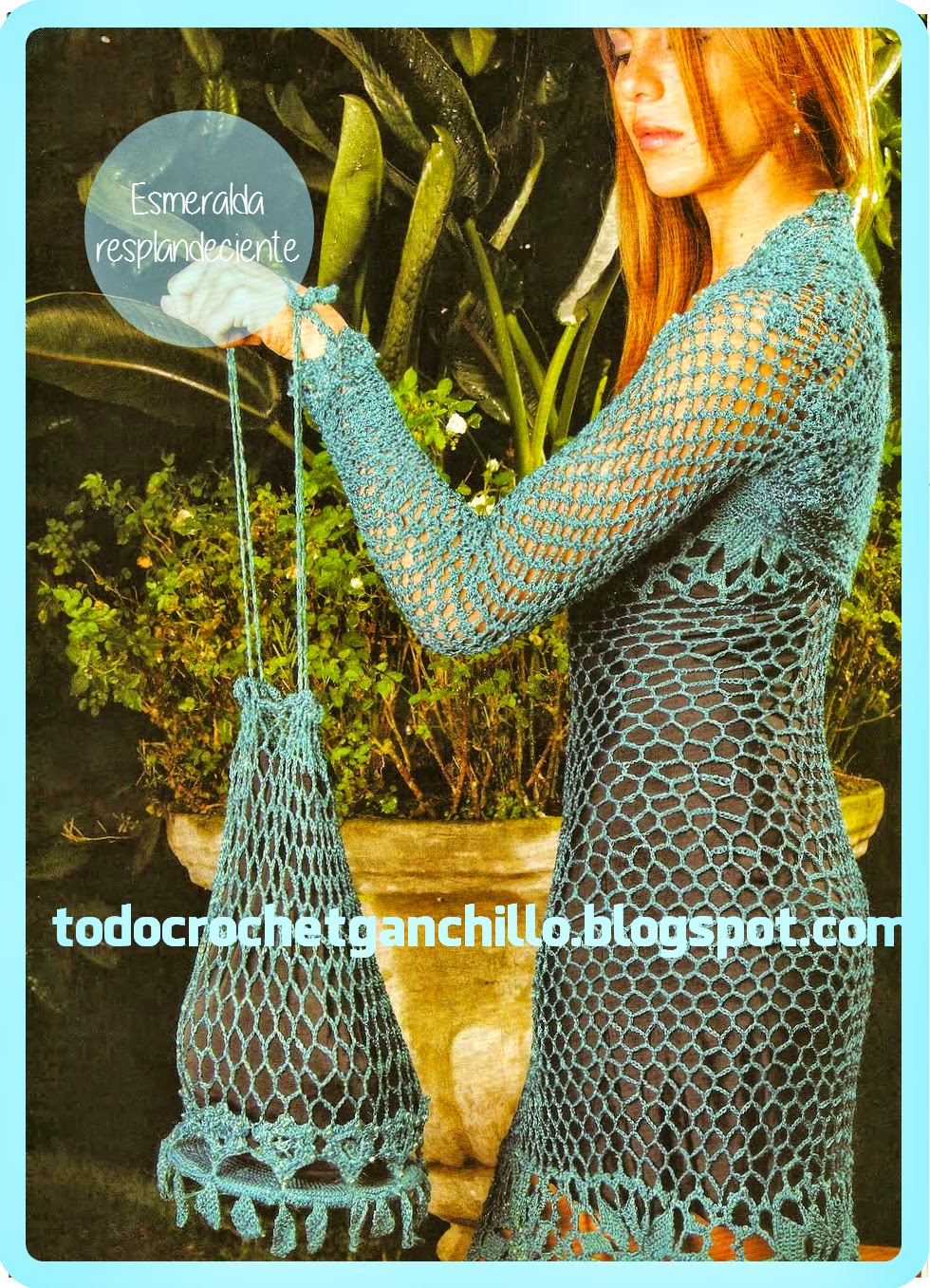 Fantástico vestido de fiesta tejido con ganchillo con patrones en español