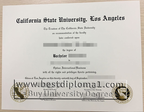 CSU,LA certificates false