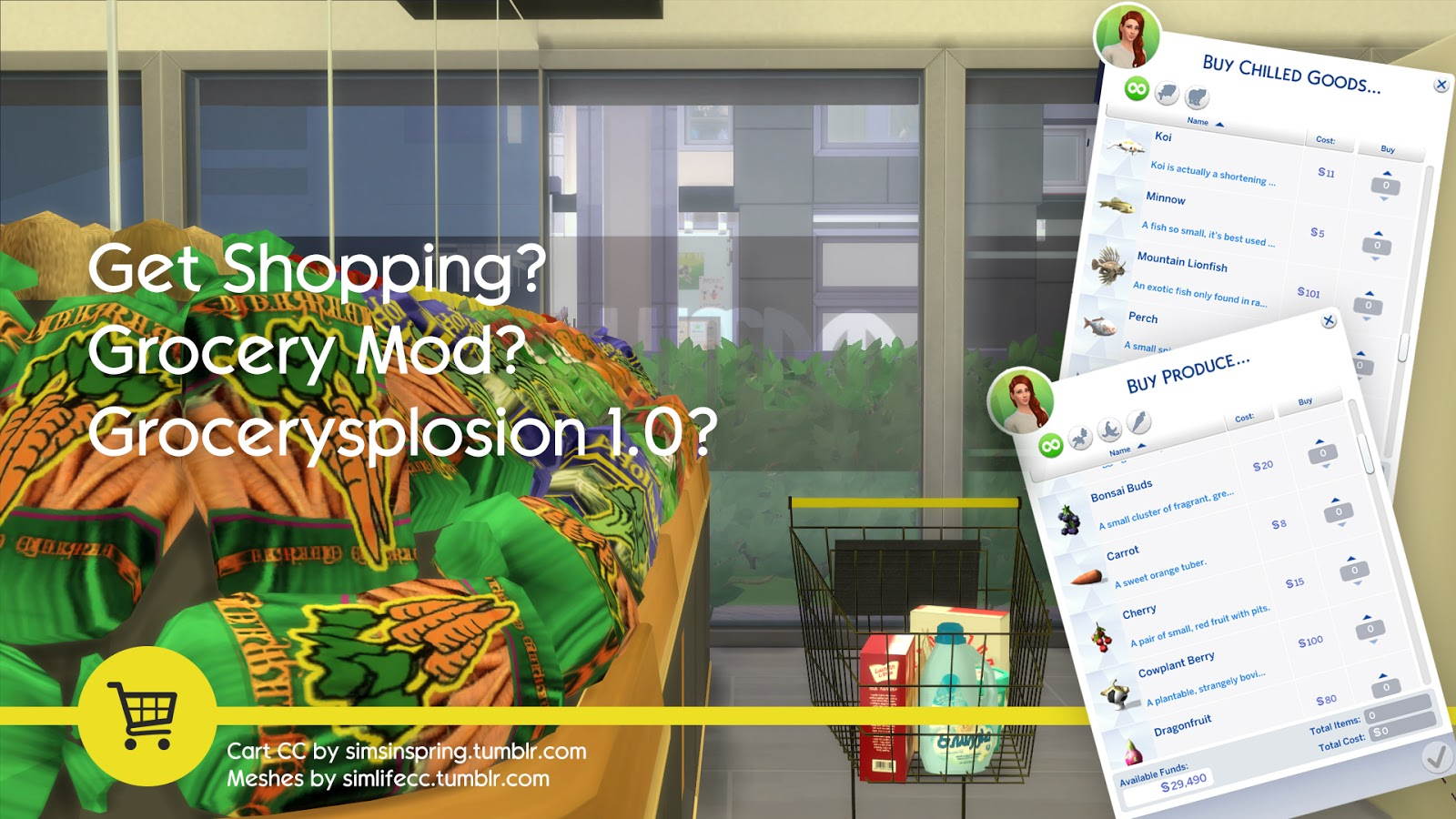 My Sims 4 Blog The Sims 4 Grocery Store Mod 1 1 2 By