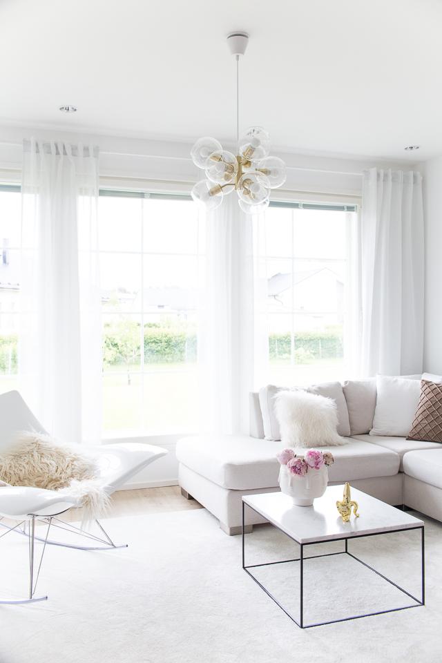 olohuoneen sisustus, klassinen koti, villa h, hattara matto