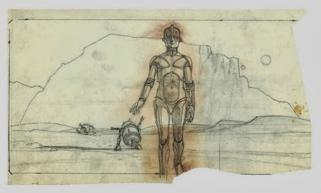 concept draft of C3po and r2d2