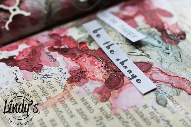 Art journal @happytin4ik #lindysgang #lindystampgang #7dotsstudio #artjournal #artjournaling #mixedmedia