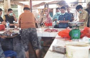Tim Operasional Terpadu Makassar,Sidak Pedagang Daging