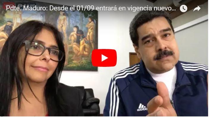 Maduro anuncia que el 7 de septiembre pagarán el nuevo aumento