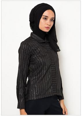 Model Baju Kemeja Muslim Wanita Modern Terbaru