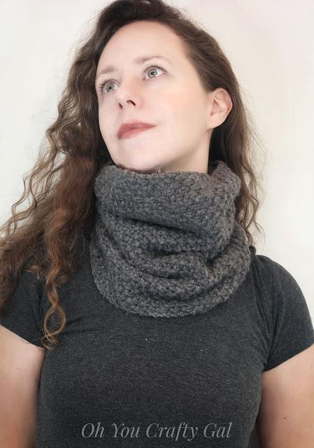 Bulky cowl scarf chunky knit women scarves