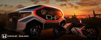 Prototipo de polícia del futuro en 3D