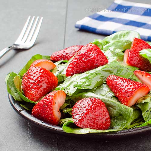 Strawberry-Spinach Salad with Balsamic Poppy-Seed Dressing