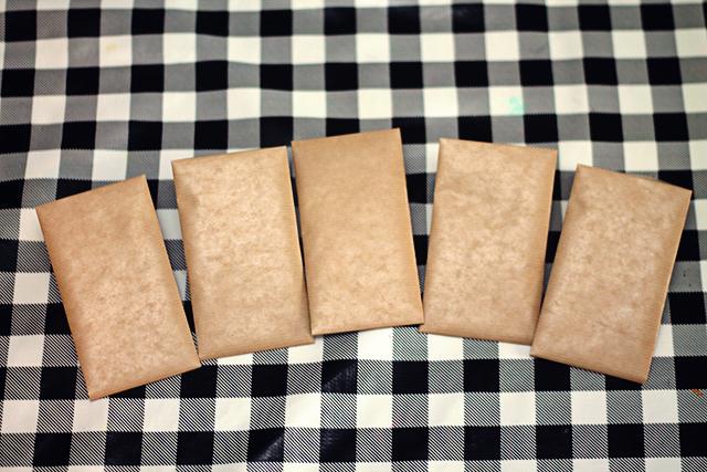 aftelkalender sinterklaas bruine zakjes maken