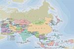 Mapa de los países de Asia