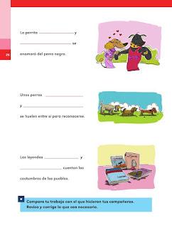 Apoyo Primaria Español 2do grado Bloque 1 lección 10 ¿Cómo son los sujetos?