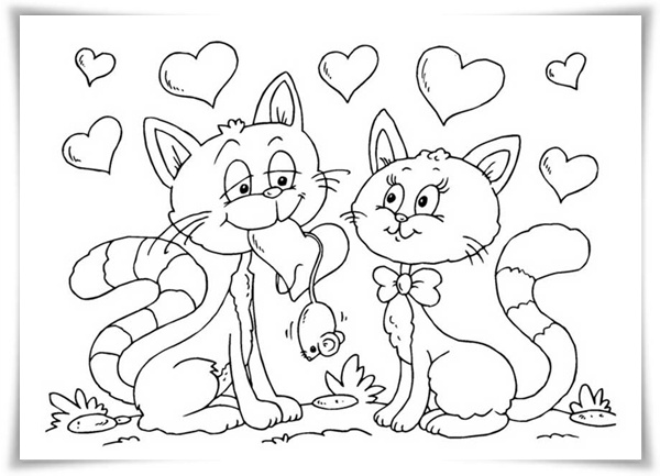 ausmalbilder zum ausdrucken ausmalbilder katzen