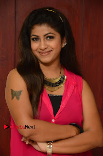 Actress Geethanjali Pictures in Pink Dress at Avanthika Movie Opening 0004