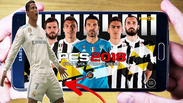 حصريا تحميل باتش للعبة بيس 2018 PES للاندرويد لاضافة أطقم وشعارات جميع الفرق